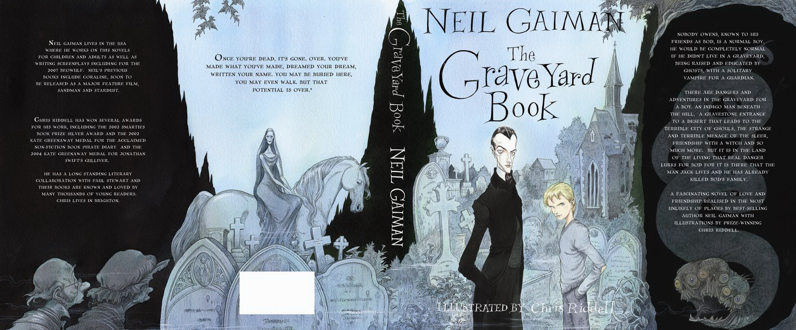 the graveyard book The graveyard book begins, as so many children's novels seem to do these days, with a multiple murder a mysterious character known only as the man jack sneaks into a.