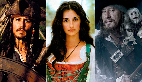 Пираты Карибского моря: Депп, Крус, Раш
